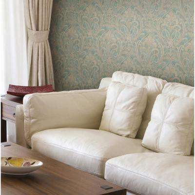 Zoe Ocean Coco Damask Wallpaper