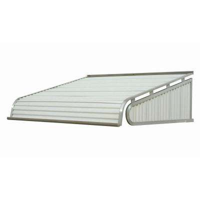 4 ft. 2100 Series Aluminum Door Canopy (18 in. H x 48 in. D) in White
