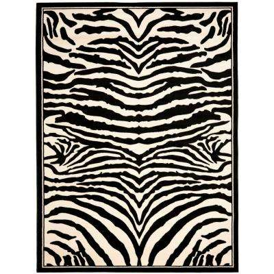 Lyndhurst White/Black 3 ft. 3 in. x 5 ft. 3 in. Area Rug