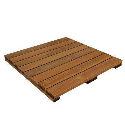 WiseTile 2 ft. x 2 ft. Solid Hardwood Deck Tile in Exotic Ipe