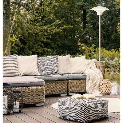 1500-Watt Infrared Stand Electric Patio Heater in Silver