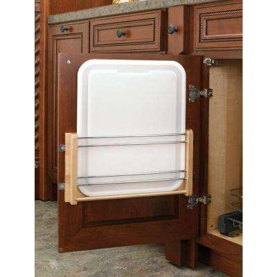 16 in. H x 11 in. W x 2 in. D Medium Cabinet Door Mount Polymer Cutting Board