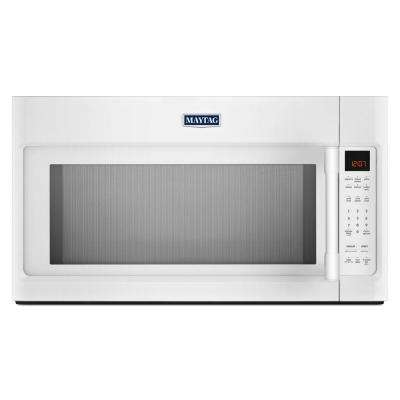 30 in. W 2.0 cu. ft. Over the Range Microwave in White with Sensor Cooking