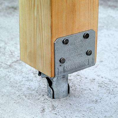 EPB Galvanized Elevated Post Base for 4x4 Nominal Lumber