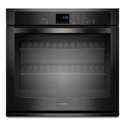 30 in. Single Electric Wall Oven Self-Cleaning in Black