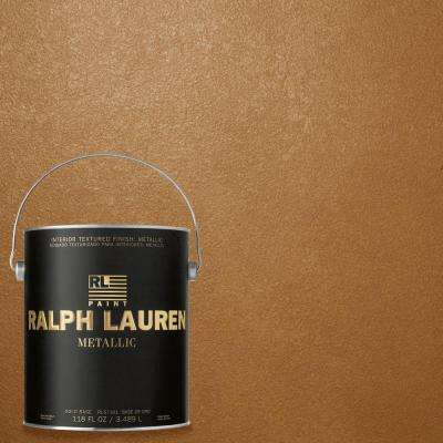 1 gal. Burnished Copper Gold Metallic Specialty Finish Interior Paint