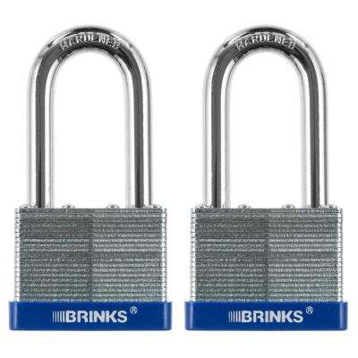 2 in. (50 mm) Laminated Steel Lock with 2 in. Boron Shackle (2-Pack)