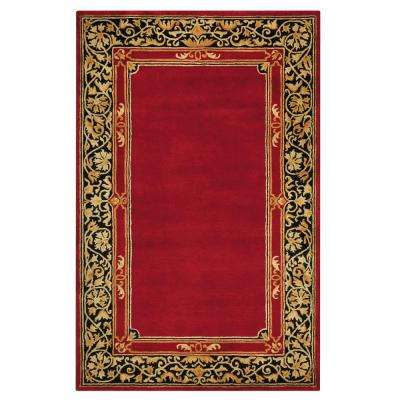 Churchill Red 5 ft. 3 in. x 8 ft. 3 in. Area Rug
