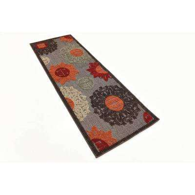 Indoor/Outdoor Chicago Brown 2' 0 x 6' 0 Runner Rug