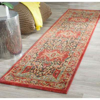 Mahal Red 2 ft. x 18 ft. Runner Rug