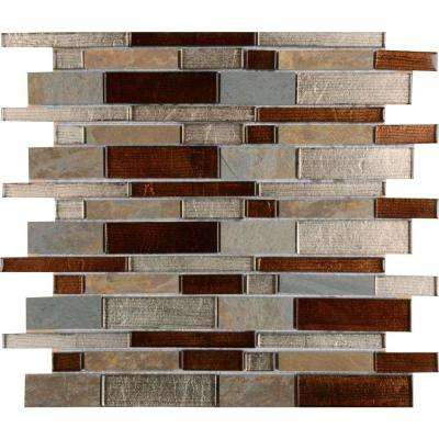 Urbano Blend Interlocking 12 in. x 12 in. x 8 mm Glass Stone Mesh-Mounted Mosaic Tile (10 sq. ft. / case)