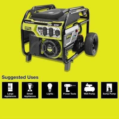 7,000 Running Watt Electronic Fuel Injected (EFI) Gasoline Powered Electric Start Portable Generator
