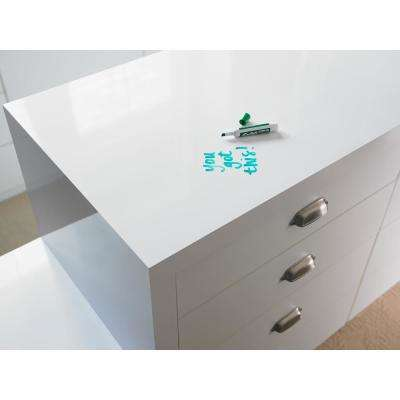 4 ft. x 8 ft. Laminate Sheet in Markerboard White with Gloss Finish