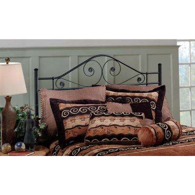 Harrison Textured Black Full/Queen Headboard with Rails