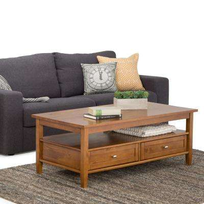 Warm Shaker Coffee Table in Honey Brown