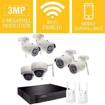 8-Channel 3MP 2TB Wi-Fi Surveillance NVR with 4-Bullet Cameras and 2-Dome Cameras with 2 Wi-Fi Extenders
