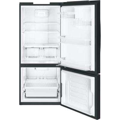 21 cu. ft. Bottom Freezer Refrigerator in Black, ENERGY STAR