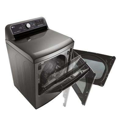 7.3 cu. ft. Smart Electric Dryer with WiFi Enabled in Graphite Steel, ENERGY STAR