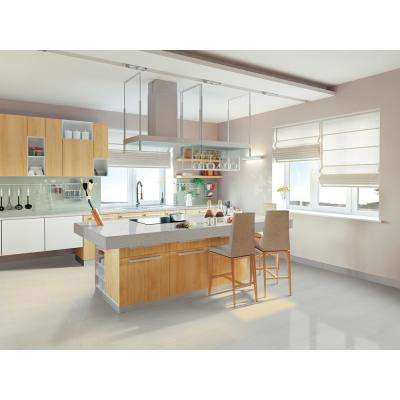 Aria Ice Bullnose 3 in. x 18 in. Polished Porcelain Wall Tile (15 lin. ft. / case)