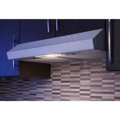 30 in. Under Cabinet Range Hood with LED Light in White