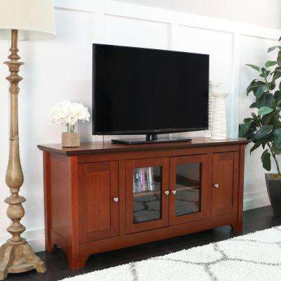 Carver Walnut Brown Entertainment Center