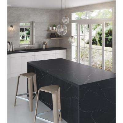 2 in. x 4 in. Quartz Countertop Sample in Charcoal Soapstone