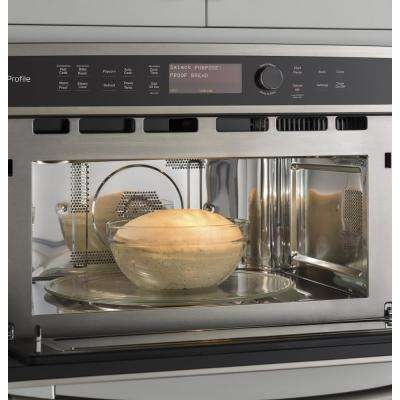 Profile 30 in. Electric Convection Wall Oven with Built-In Microwave in Slate, Fingerprint Resistant