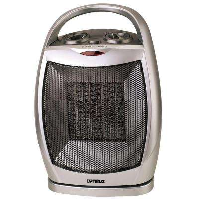 750-Watt to 1500-Watt Oscillating Ceramic Portable Heater with Thermostat