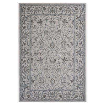 Casual Tradition Ivory/Grey 7 ft. 10 in. x 11 ft. 2 in. Area Rug
