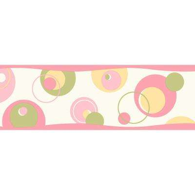 6 in. x 10 in. Wobbles Pink Geometric Toss Border Sample