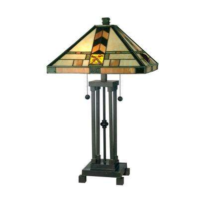 25.25 in. Martin Mission Style Dark Antique Bronze Table Lamp