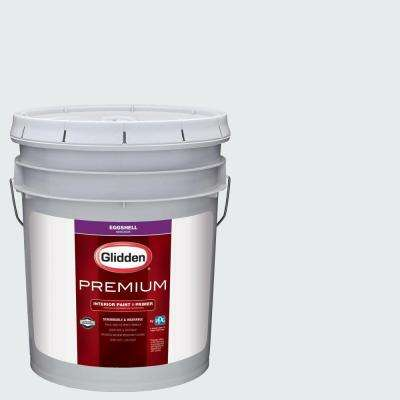 5 gal. #HDGCN43 Dove White Eggshell Interior Paint with Primer