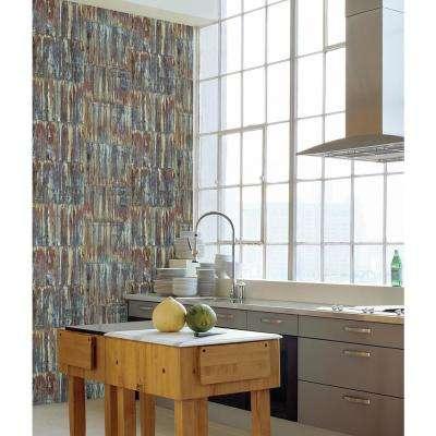 Patina Panels Multicolor Metal Wallpaper