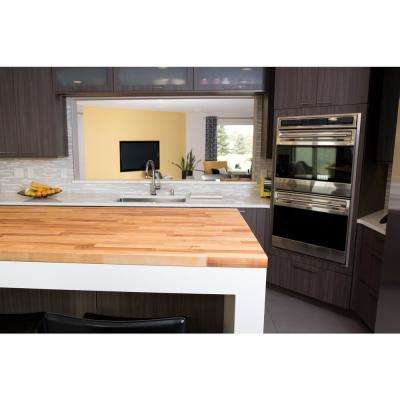 8 ft. 2 in. L x 2 ft. 1 in. D x 1.5 in. T Butcher Block Countertop in Unfinished Birch