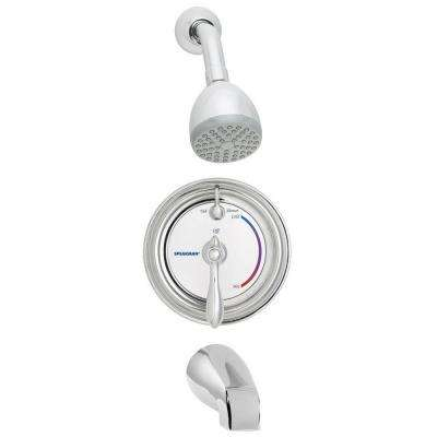 Sentinel Mark II Regency 1-Handle 1-Spray Tub and Shower Faucet with Pressure Balance Valve in Polished Chrome