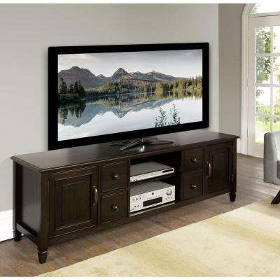 Connaught 72 in. W x 24 in. H TV Stand in Dark Chestnut Brown