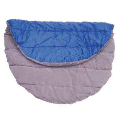 32 in. x 40 in. Portable Tan and Blue Down Travel Pet Bed