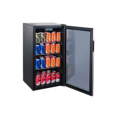 90-Can Beverage Center Electrical Control with Stainless Steel See-Through Door