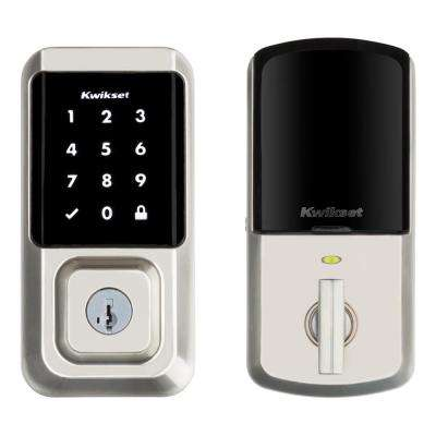 HALO Satin Nickel Single-Cylinder Electronic Smart Lock Deadbolt Featuring SmartKey Security, Touchscreen and Wi-Fi