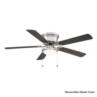Hugger 56 in. LED Brushed Nickel Ceiling Fan