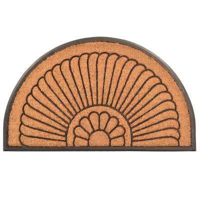 Outdoor Crescent 2 ft. x 3 ft. 3 in. Coir and Rubber Door Mat