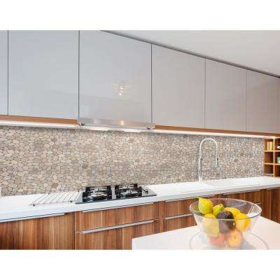 Classic Pebble Tile Tan 11-1/2 in. x 11-1/2 in. x 12.7mm Mesh-Mounted Mosaic Tile (10.12 sq. ft. / case)