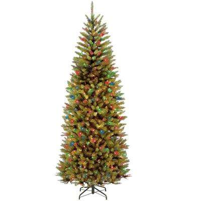 7.5 ft. PowerConnect Kingswood Fir Slim Artificial Christmas Tree with Dual Color LED Lights