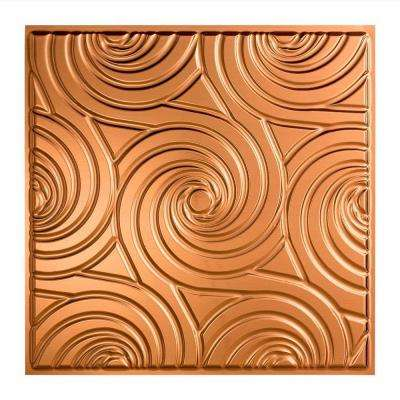 Typhoon - 2 ft. x 2 ft. Lay-in Ceiling Tile in Polished Copper