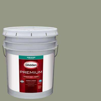 5 gal. #HDGCN08 Eucalyptus Tree Semi-Gloss Interior Paint with Primer