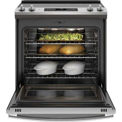 5.3 cu. ft. Slide-in Electric Range with Self-Cleaning Convection Oven in Stainless Steel