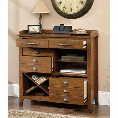 Carson Forge Collection 41 in. €W Sideboard Cabinet in Washington Cherry