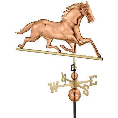 33 in. Polished Copper Horse Weathervane