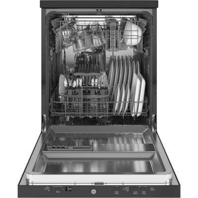 Portable Dishwasher in Black with 12 Place Settings Capacity, 54 dBA