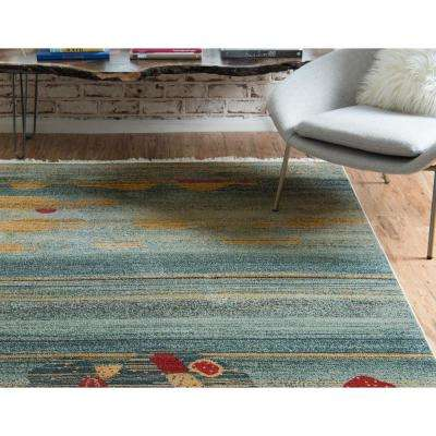 Fars Victorian Light Blue 2' 7 x 10' 0 Runner Rug